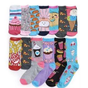 Girls 12 days of food socks